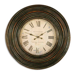 "Uttermost - Uttermost 06726 Trudy 38"" Wooden Wall Clock - Uttermost 06726 Trudy 38"" Wooden Wall Clock"