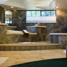 Traditional Bathroom by Redding Tile and Stone Works, Inc.