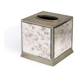 Kassatex - Kassatex Palazzo Collection Tissue Holder - Excessive good looks can sometimes engender suspicion, but this unusually handsome tissue box is steady and stalwart to the end. Even the last tissue comes out easily without over-the-top drama.
