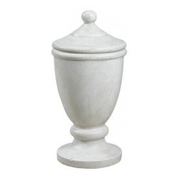 Kenroy Home - Kenroy Home Covered Urn Garden Roman White Finish - 60072 - Reminiscent of marble and aged plaster, this classical covered urn with removable lid leans to the traditional but has universal appeal. Indoors or out, this decorative ornament is sure to be a welcome addition to any decor.