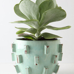 Blocked Planter - Mint green is on track to be summer's hottest color! This mint Blocked Planter from Anthropologie is the perfect color for your summer space.