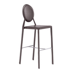 Zuo Modern Contemporary, Inc. - Ville Marie Bar Chair Espresso (set of 2) - Upright yet graceful lines make the Ville Marie Bar Chair a clean foil for an adventurous decor or a sweet match for an elegant room. Modern lines and easy-to-clean leatherette finish make it the perfect dining room chair. Comes in black, white, or espresso.