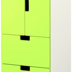 Ebba Strandmark - Stuva Storage Combination With Doors/Drawers, White/Green - I love the bright colors on the doors of this storage unit. And it is big enough to hide away a nice amount of kids' room stuff.