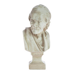 Casa de Arti - Classic François-marie Arouet Sculpture of Voltaire Bust - Beautiful bust of the famous Voltaire, perfect for your home and office decor at an incredible price.