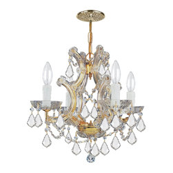 Crystorama - Crystorama Maria Theresa 1 Tier Chandelier in Polished Gold - Shown in picture: Maria Theresa Chandelier Draped in Swarovski Spectra Crystal; For centuries - Maria Theresa style of crystal chandeliers has been a sign of wealth - style - and class. In keeping with the time honored traditions of our European artisans - Crystorama's Maria Theresa collection offers a variety of finishes and crystal combinations. Crystorama also offers our Maria Theresa collection in our very popular Golden Teak crystal.