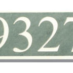 Green and White Slate House Number Plaque - Make your house numbers more than just a functional piece of outdoor hardware. This beautiful white lettering on green slate allows you to add some extra beauty to your home's exterior.