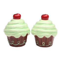 "ATD - 2.5 Inch ""Life is Sweet"" Brown and Green Cupcake Salt and Pepper - This gorgeous 2.5 Inch ""Life is Sweet"" Brown and Green Cupcake Salt and Pepper has the finest details and highest quality you will find anywhere! 2.5 Inch ""Life is Sweet"" Brown and Green Cupcake Salt and Pepper is truly remarkable."