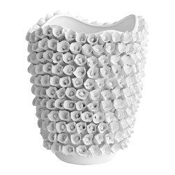 Cyan Design - White Rose Vase - Small - Small white rose vase - white