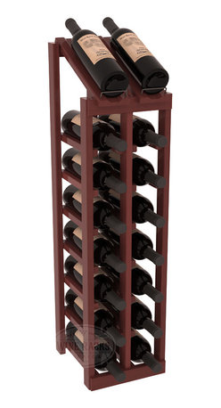 Wine Racks America - 2 Column 8 Row Display Top Kit in Redwood, Cherry Stain + Satin Finish - Display your best vintage while efficiently storing 16 wine bottles. This slim design is a perfect fit for almost any space. Our wine cellar kits are constructed to industry-leading standards. Display top wine racks are perfect for commercial or residential environments.