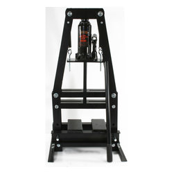 Buffalo Tools - Black Bull 6 Ton A-Frame Shop Press - Use the Black Bull 6 Ton A-Frame Shop Press for installing and removing gears, U-joints, bushings, ball joints, pulleys arbor and press-out jobs. Used by automotive shops and hobbyists to repair and replace bearings, install and remove pressure-fitted parts, and bend or straighten metal.