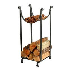 "Enclume - Premier Sling Log Rack - Dimensions: 14""L x 16""W x 34""H"