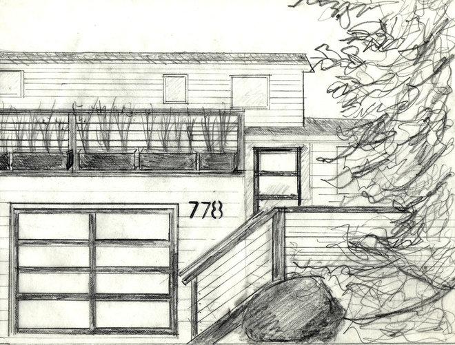 Contemporary  Garage Deck Dilemma