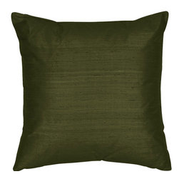 The Silk Group - Ultra Green 18x18-Inch Silk Dupioni Square Poly Insert Decorative Pillow - - Handcrafted in the USA these decorative pillows are ideal for adding that special finishing touch to any space. Available in over 100 colors several of them can be combined for a grouping of complementary colors or contrasting shades. They feature 100% Grade A Silk Dupioni the finest highest quality most exquisite silk fabric on the market. A high quality knit backing is permanently bonded to the back of the fabrics used in our pillows. The knit backing adds body increased stability and longevity to the pillow. An invisible color-coordinated zipper is discretely placed on the bottom edge of the pillow so both faces of the pillow are able to be displayed. The pillow inserts we use are over-sized so our pillows will always have that desirable high soft and fluffy appearance. Our pillows are available without the insert too if you prefer to use your own. The fabric face has been treated with the most durable and permanent stain moisture and UV repellants available. This provides long lasting protection from water alcohol and oil-based stains as well as resistance from fading and discoloring over time.  - Fill Material: Down  - Dry Clean Only The Silk Group - SQ_Dup_Sol_Ultra_Green_18x18_Poly