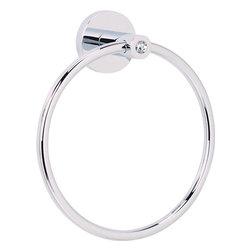 Alno Inc. - Crystal Towel Ring (ALNC8340-SN) - Crystal Towel Ring