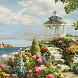 Murals Your Way - Oceanside Park Wall Art - Painted by Alan Giana, the Oceanside Park wall mural from Murals Your Way will add a distinctive touch to any room
