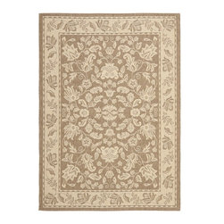 Safavieh - Courtyard Brown Area Rug CY6555-22 - Safavieh takes classic beauty outside of the home with the launch of their Courtyard Collection. Made in Belgium with enhanced polypropylene for extra durability, these rugs are suitable for anywhere inside or outside of the house. To achieve more intricate and elaborate details in the designs, Safavieh used a specially-developed sisal weave.