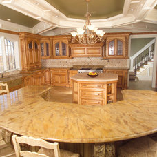 Traditional Kitchen by Galleria Stone