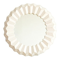 Serena & Lily - White Mosaic Mirror - This has a beautiful shape that's suitable for above a dresser or entry console. It's also available in poppy red.