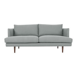Bryght - Gray Mid-Century Modern Love seat   Carl Mid-Century Modern Furniture - Mid century inspired design, the Carl loveseat is as comfortable as it is decadent.