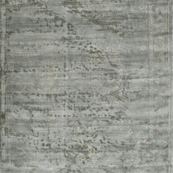 """Loloi Rugs - Loloi Rugs Nyla Collection - Mist, 2'-4"""" x 7'-9"""" - The power-loomed Nyla Collection from Egypt offers a range of subtle, sophisticated looks that enhance an interior space at a value-driven price. Made of 100% viscose, Nyla features soft color combinations with touches of mocha, plum, and mist throughout the selection."""