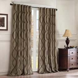 "Madison Park - Madison Park Serendipity Window Curtain - Two-tone embroidered oggi on irridescent taffeta. Soft wave oggi is easy to live with. Added lining for energy saving qualities and room darkening benefits. Panel is made with 3"" rod pocket as well as back tabs. Fits decorative rods up to 1.25"" in diameter and continental rods. 100% polyester"