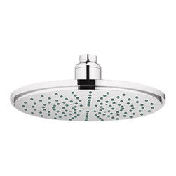 Grohe - Grohe 28373BE0 Shower Head In Sterling Infinity Finish - Grohe 28373BE0 from the Rainshower Heads and Accessories add a new level of performance to your shower. The Grohe 28373BE0 is a Shower Head With a Sterling Finish for a highly reflective yet warmer appearance than Chrome.