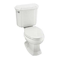 """KOHLER - KOHLER K-3591-U-96 Portrait Elongated Toilet with Left-Hand Trip Lever and Insul - KOHLER K-3591-U-96 Portrait Elongated Toilet with Left-Hand Trip Lever and Insuliner Tank Liner, Less Seat in BiscuitThe Portrait Suite epitomizes the understated sophistication of French Provincial design. Its distinctive, sculpted lines and soft edges are well-suited for bath environments that feature traditional decor and also complement bathrooms with transitional style elements. This Portrait elongated toilet features the complete performance of the Ingenium flushing system and a 12"""" rough-in.Please see our Delivery Notes for Freight Shipments for products that are oversized and/or are too heavy to ship UPS ground. KOHLER K-3591-U-96 Portrait Elongated Toilet with Left-Hand Trip Lever and Insuliner Tank Liner, Less Seat in Biscuit, Features:• Sculpted lines, soft edges and performance-enhanced flushing that integrates with the Portrait Suite"""