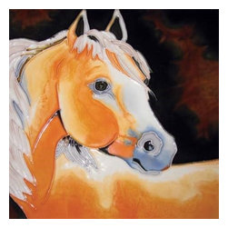 Westland - 8 x 8 Inch Young Palomino Horse Looking to The Left Tile - This gorgeous 8 x 8 Inch Young Palomino Horse Looking to The Left Tile has the finest details and highest quality you will find anywhere! 8 x 8 Inch Young Palomino Horse Looking to The Left Tile is truly remarkable.