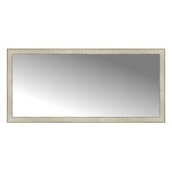 """Posters 2 Prints, LLC - 56"""" x 26"""" Libretto Antique Silver Custom Framed Mirror - 56"""" x 26"""" Custom Framed Mirror made by Posters 2 Prints. Standard glass with unrivaled selection of crafted mirror frames.  Protected with category II safety backing to keep glass fragments together should the mirror be accidentally broken.  Safe arrival guaranteed.  Made in the United States of America"""