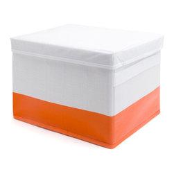 Storage Box, White+Orange - This baby doesn't mind being put in a corner.