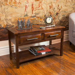 Christopher Knight Home - Christopher Knight Home Luna Acacia Wood Console Table - Made from acacia wood,this table can double as both a storage and design element. With neutral colors and an industrial touch this console table will compliment any decor it is placed next to.
