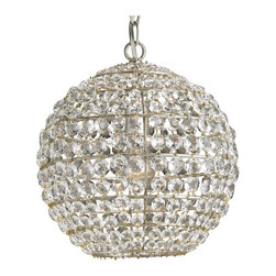 Kathy Kuo Home - Modern Elegant Faceted Crystal Ball Pendant - This is one crystal ball that will always reveal a beautiful outcome!  This has to be the most sophisticated small ball pendant light fixture we've ever laid eyes on  - perfect for chic spaces in need of a little elegant illumination.