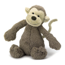 Bashful Monkey - We all love a ratty-looking, cuddly stuffed toy. Jellycat produces these lovable plush animals with a vintage look.