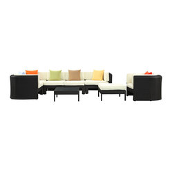 Bonaire Outdoor Wicker Rattan Sectional Set