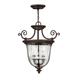 Hinkley Lighting - Hinkley Lighting Cambridge Traditional Foyer Light X-BO3163 - As part of the Hinkley Lighting family, the Cambridge Traditional Foyer Light is a great addition to your home. Featuring a Clear Optic glass shade and finished in Old Bronze, this pendant would hang nicely in your foyer. As the first light your guests see, this fixture is sure to create style and elegance in your home.