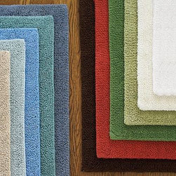 """PB Classic Bath Rug, Medium, 21 x 34"""", Cardinal Red - Our signature PB Classic Bath Rugs are the softest and plushiest you'll find. Small: 17 x 24""""Medium: 21 x 34""""Large: 27 x 45""""Made of absorbent cotton that's looped on one side, sheared on the other. Machine wash.ImportedSelect items are Catalog / Internet Only."""