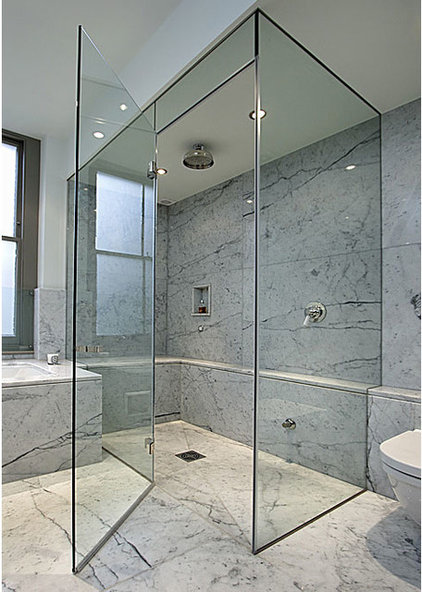 Contemporary Shower Doors by ATM Mirror and Glass