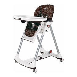 Peg Perego Prima Pappa Diner High Chair, Savana Cacao - Peg Perego is a classic brand. This is a big high chair, but it can fold down.