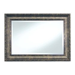"Framed Goods - Wall Mirror 20X30 - Ribbed Pewter - Mirror Details: 20""x30""x3/16"" Thick - 1"" beveled"