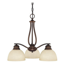 Capital Lighting - Capital Lighting Stanton Transitional Chandelier - Elegantly illuminating small or intimate areas, this charming chandelier provides a vintage vibe to the area. The Capital Lighting Stanton Transitional chandelier features a traditional looking frame which comes in a burnished bronze finish. The mist scavo glass elegantly offsets the dark bronze finish.