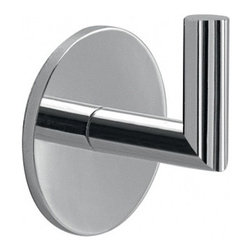 Gedy - Adhesive Chrome Wall Mounted Hook - Round bathroom hook is made of brass and aluminum with a chrome finish.