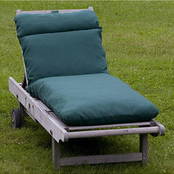 None - Outdoor Forest Green Chaise Lounge Cushion - This outdoor chaise lounge cushion will keep its shape and color throughout the seasons,thanks to its UV-resistant,quick-drying polyester fabric. Choose from colors like lime green and aqua so that you can match your decor perfectly.