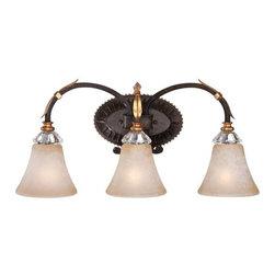Metropolitan - Metropolitan N2693-258B Bella Cristallo 3 Light French Bronze Bath Light - Features: