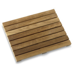 asian bath mats Teak Shower Mat