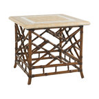 Lexington - Tommy Bahama Island Estate Veranda Square End Table - The outdoors is enjoyed not only in the daylight hours, but in the early morning and evening too when the sun is not the source of light. Side tables are ideal for additional lighting or displaying accessories that complete the overall setting and environment.