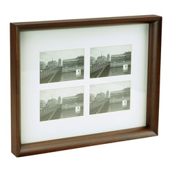 "Boom - Radius Frame (4), 4"" x 6"" - This classic frame with beautifully curved wood draws the eye directly to your treasured images. It features a classic white matte to further frame out your highlighted photos. It's a great way to display a collection from a favorite vacation or celebration, and it can be hung vertically or horizontally."