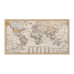 "WallsNeedLove - Dutch Antique World Map Decal - Not only is this vintage adhesive world map wall decal beautiful. . . but it's in Dutch! You'll be the envy of the town. People will gossip about your sophistication. Neighbors will beg to be invited to your dinner parties. You will be pure royalty. And all you have to do is put this world map right there over your oak mantelpiece. ""Perfection"" the masses will scream."