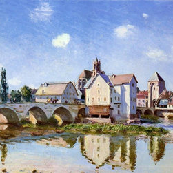 """Art MegaMart - Alfred Sisley The Moret Bridge in the Sunlight - 20"""" x 25"""" Premium Canvas Print - 20"""" x 25"""" Alfred Sisley The Moret Bridge in the Sunlight premium canvas print reproduced to meet museum quality standards. Our museum quality canvas prints are produced using high-precision print technology for a more accurate reproduction printed on high quality canvas with fade-resistant, archival inks. Our progressive business model allows us to offer works of art to you at the best wholesale pricing, significantly less than art gallery prices, affordable to all. We present a comprehensive collection of exceptional canvas art reproductions by Alfred Sisley."""