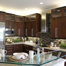 Eclectic Kitchen Cabinets by Ervolina Associates Inc