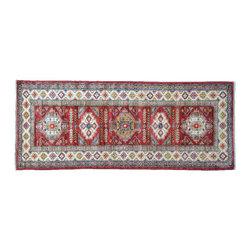 1800GetARug - Oriental Rug Red Fine Kazak Runner Hand Knotted Rug Sh11177 - About Tribal & Geometric